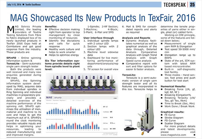 Article on SPinFO & TensoLite in Magazine